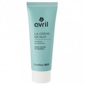 Crème de nuit bio peaux sèches et sensibles (AVRIL)