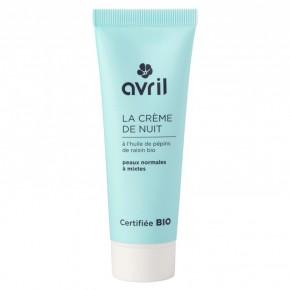 Crème de nuit bio peaux normales à mixtes (AVRIL)