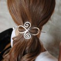 Barrette arabesque coeur