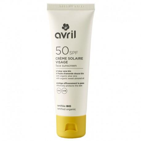 Crème Solaire Visage SPF 50 (AVRIL)