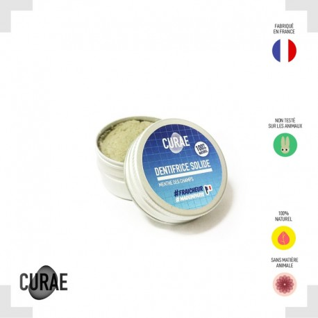 Dentifrice solide - Menthe des champs (CURAE)
