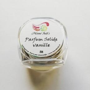 Parfum solide à la vanille