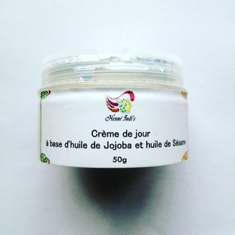 Crème de jour (à base d'huile de jojoba et d'huile de sésame)