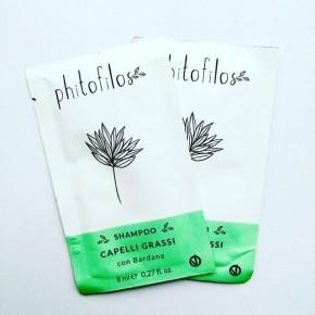 "Shampooing pour cheveux gras 8 ml ""shampoo capelli grassi"" PHITOFILOS"
