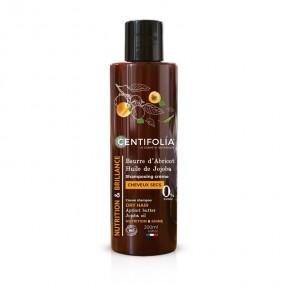 shampooing crème cheveux secs Beurre d'Abricot et huile de Jojoba (CENTIFOLIA)
