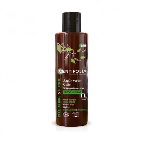 Shampooing cheveux gras à l'ortie et argile verte (CENTIFOLIA)