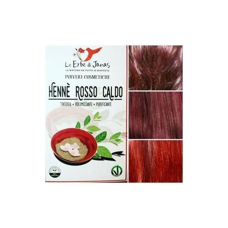 Henné rouge chaud (Rosso Caldo) LE ERBE DI JANAS