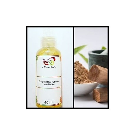 Spray hydratant et démêlant au santal indien