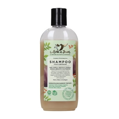 Shampooing Figue & Lentisque  - Revitalisant et nourrissant - (LE ERBE DI JANAS)